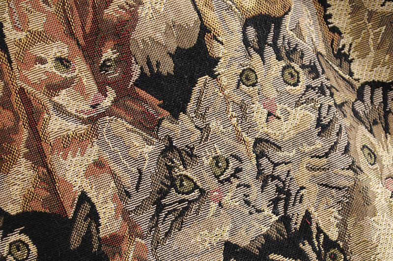 Wholesale women's new cat jacquard zip skirt NHAM203388