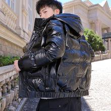 2020冬季男式棉服亮面连帽加厚防风棉袄男韩版青少年保暖棉衣男