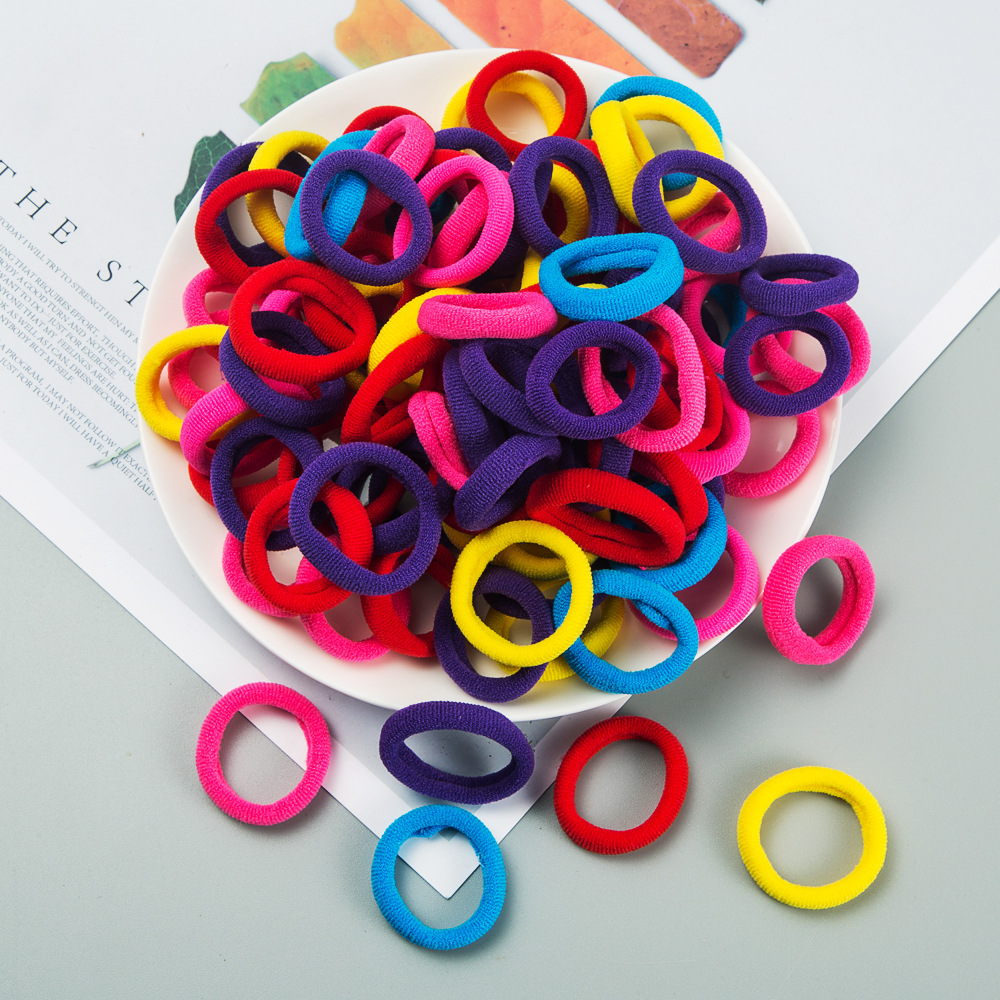 Children's hair accessories Korean boxed small rubber band baby hair rope girls jewelry strong pull constant hair ring small elastic ring wholesale nihaojewelry NHLN222454