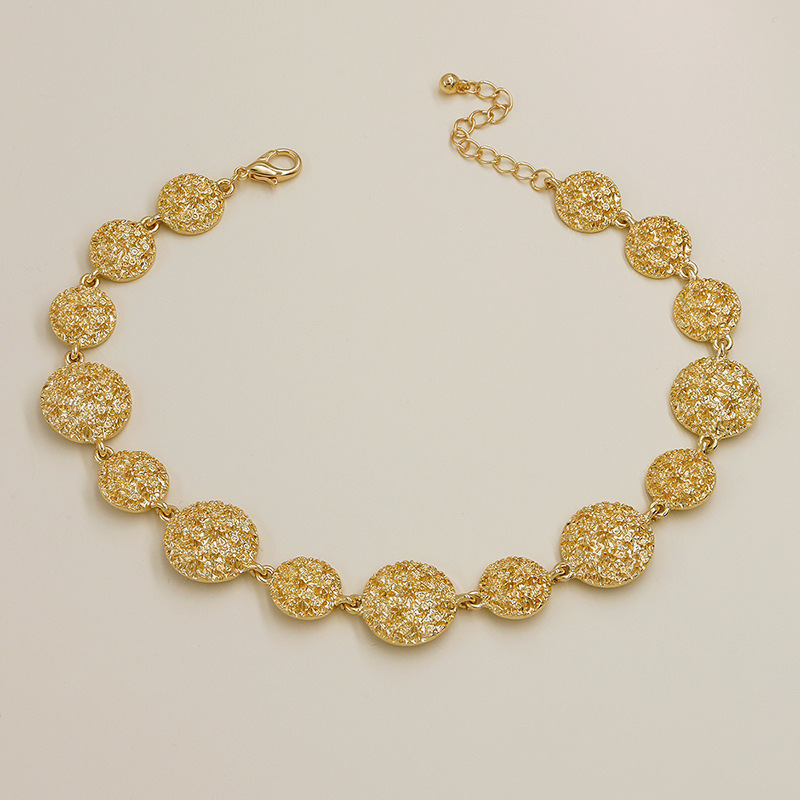 New  Fashion Metal Texture Hot Sale necklace wholesale NHGU257558