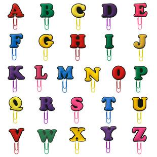 Color letter PVC paper clip bookmark cute animal cartoon anime page folder creative message factory direct sales