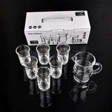 批发礼品 玻璃小酒白酒杯套装 酒具创意烈酒杯分酒器 一口杯