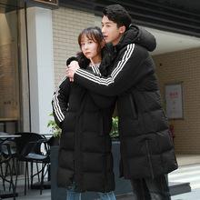 2020男女冬季中长款情侣装加厚棉衣外套新款韩版百搭冬装棉服潮流