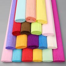 彩色邹纹纸褶皱卷边缩拉伸儿童手卡通花束鲜花diy手工花制作材。
