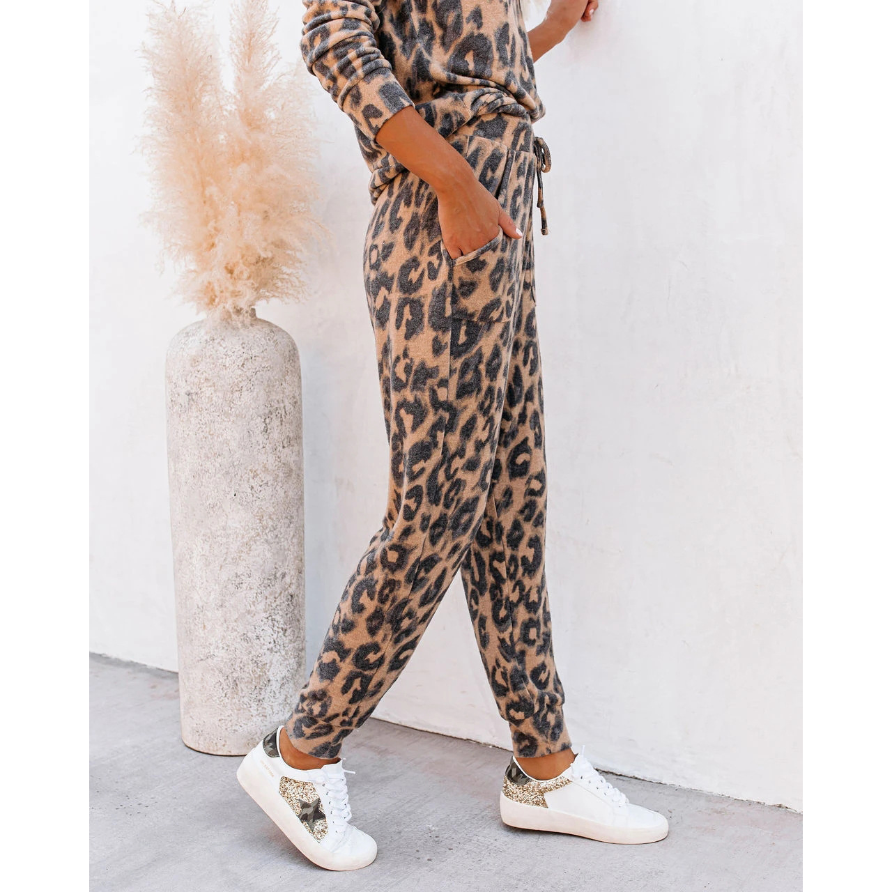 hot style autumn new tie-dye printed long-sleeved trousers casual home service suit  NSKX5819