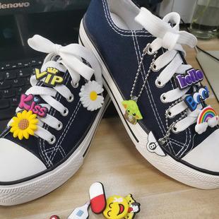 New shoelace decorative buckle Shoe flower shoe buckle Cute cartoon anime PVC creative personality trendy shoes accessories sports shoes