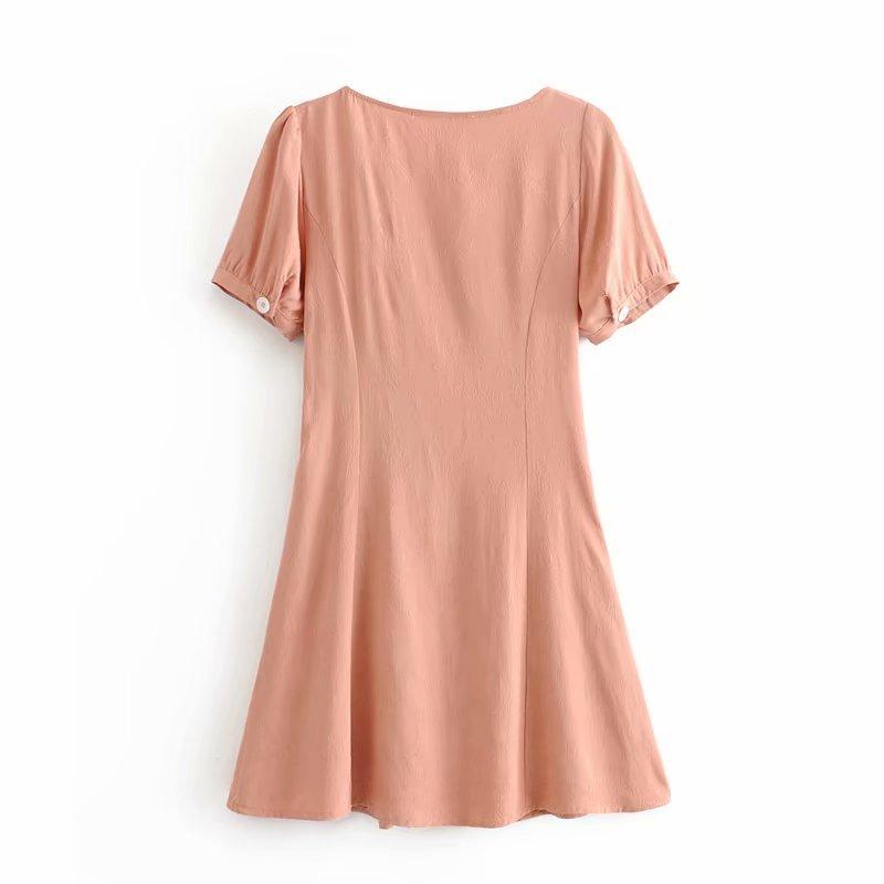 Spring fashion jacquard front-breasted dress wholesale NHAM198475