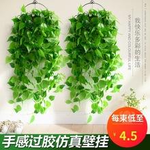 真綠蘿吊籃客廳掛墻綠植壁掛植物裝飾垂吊假花盆栽室內藤蔓吊蘭