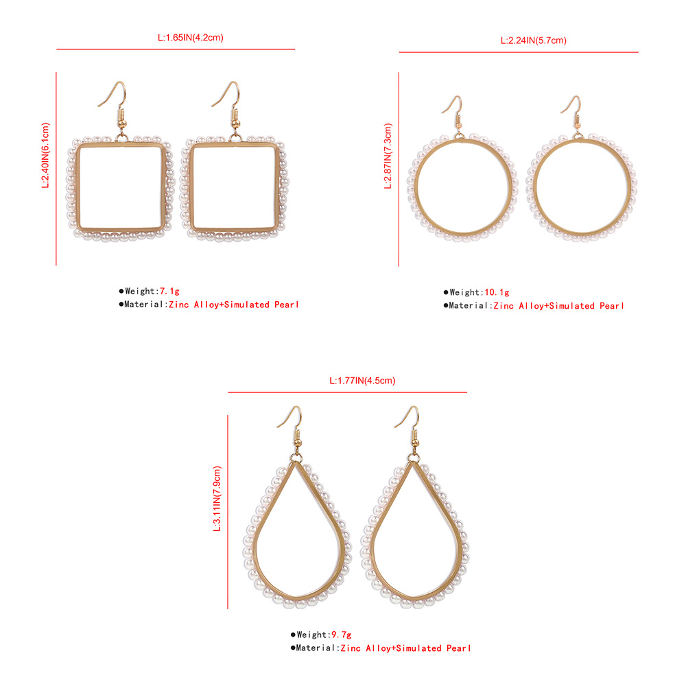 simple fashion imitation pearl earrings NHMD286162