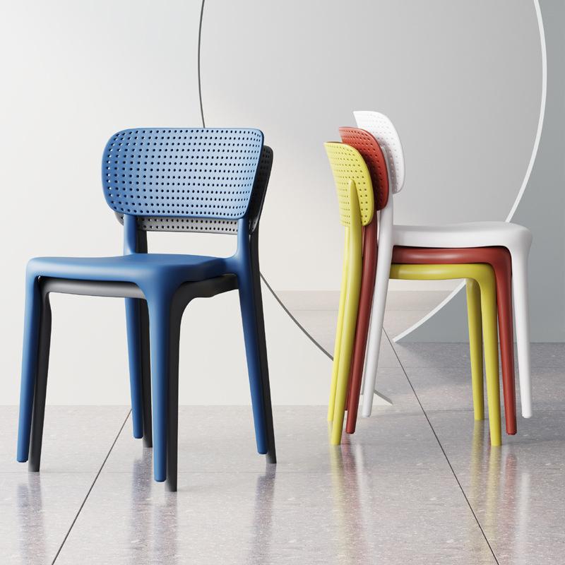 塑料椅子靠背家用现代简约pp一体胶凳子餐厅成人北欧餐椅户外时尚
