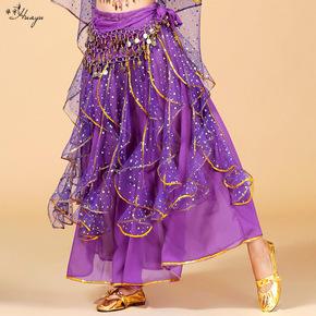Indian dance dance skirt belly dance dance performance point sequin skirt stage annual meeting performance long skirt