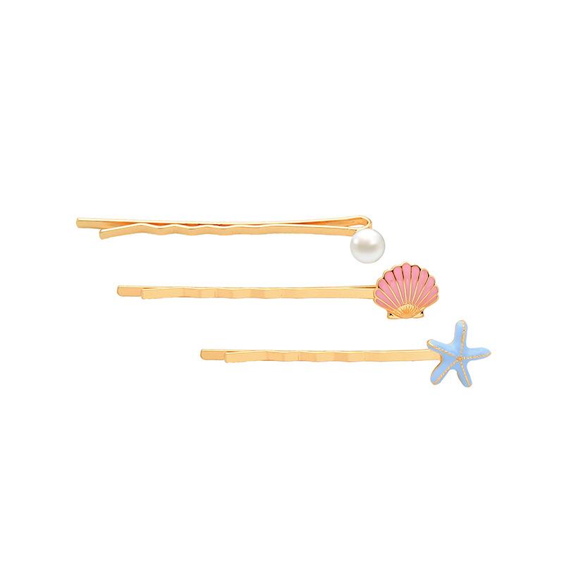 New fashion casual side shell starfish pearl cheap hairpin wholesale NHQD212496