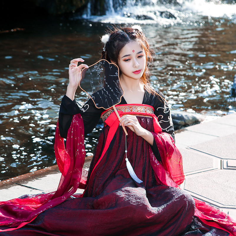 Chinese Hanfu female adult Guoqing elegant fairy student song pants cover ancient
