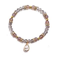 fashion bohemian elastic crystal bracelet  NHPK311292