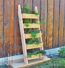 花架实木多层室内组合防腐实木家用台阶梯多肉绿萝阳台落地式盆架