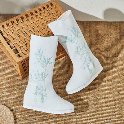 women chinese traditional hanfu boots retro chinese clothing boots drama princess fairy cosplay boots for female
