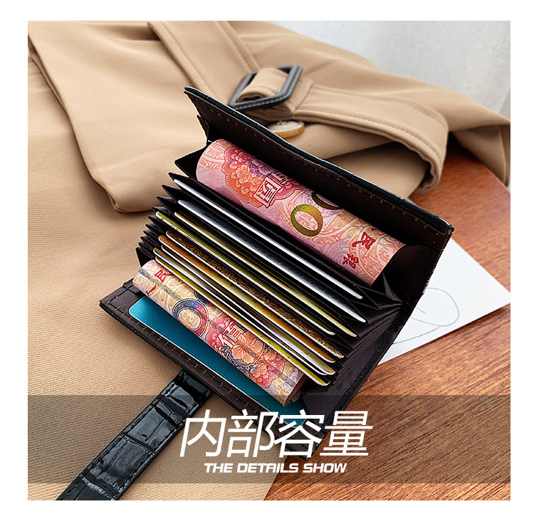 Womens short wallet Korean buckle coin purse multicard bag NHTG337718