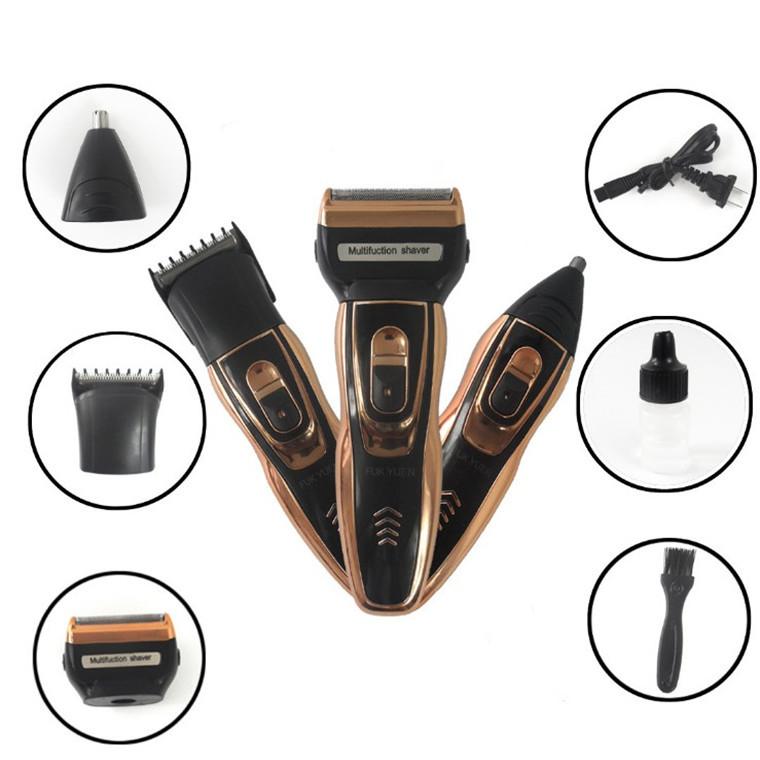 电动剃须刀多功能三合一剃须刀水洗刮胡刀男士胡须刀理发剪鼻毛器