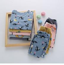 2020秋冬款童装婴儿套装儿童莱卡套头宝宝内衣家居服睡衣一件代发