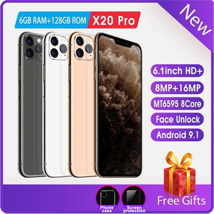 Wish explosion cross-border mobile phone new X20pro smart phone 1+16G all-in-one 6.1-inch Android phone