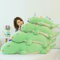 新款长条抱枕恐龙公仔毛绒玩具软体趴姿恐龙儿童女生玩偶玩偶批发