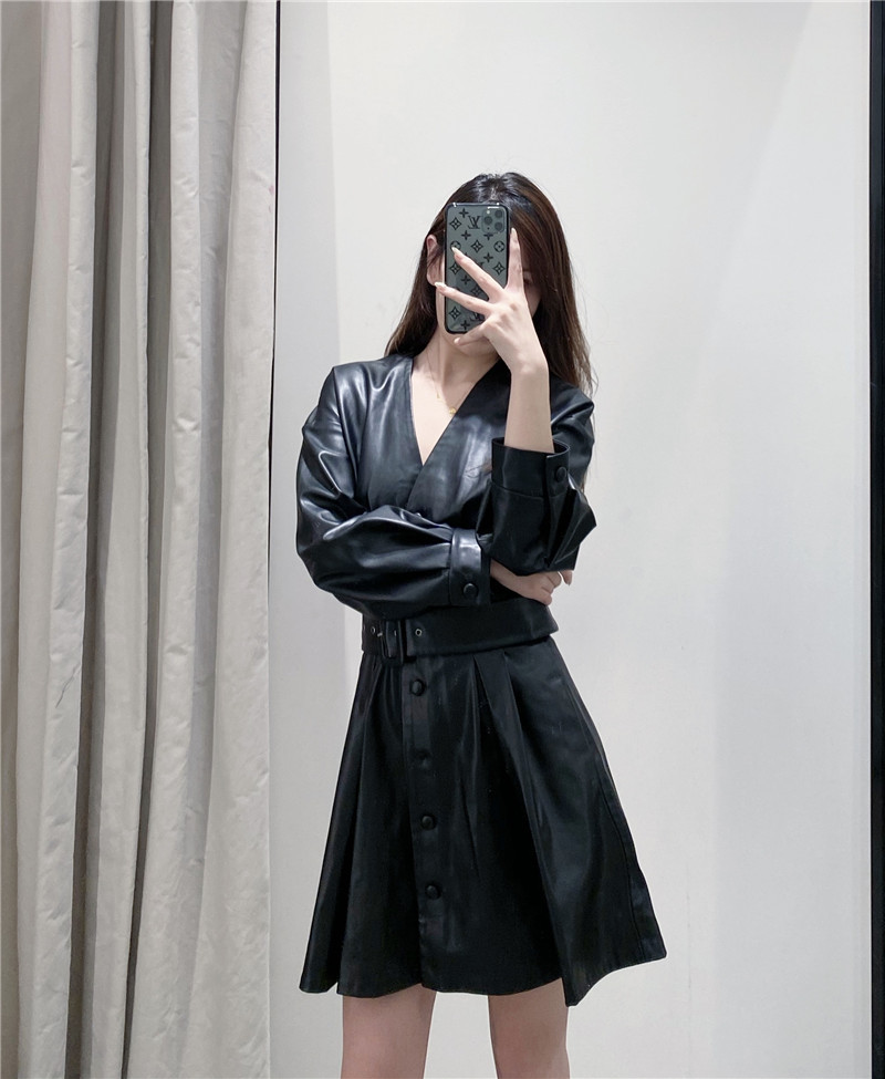 Fashion women's dress new women's belt faux leather dress wholesale NHAM200160