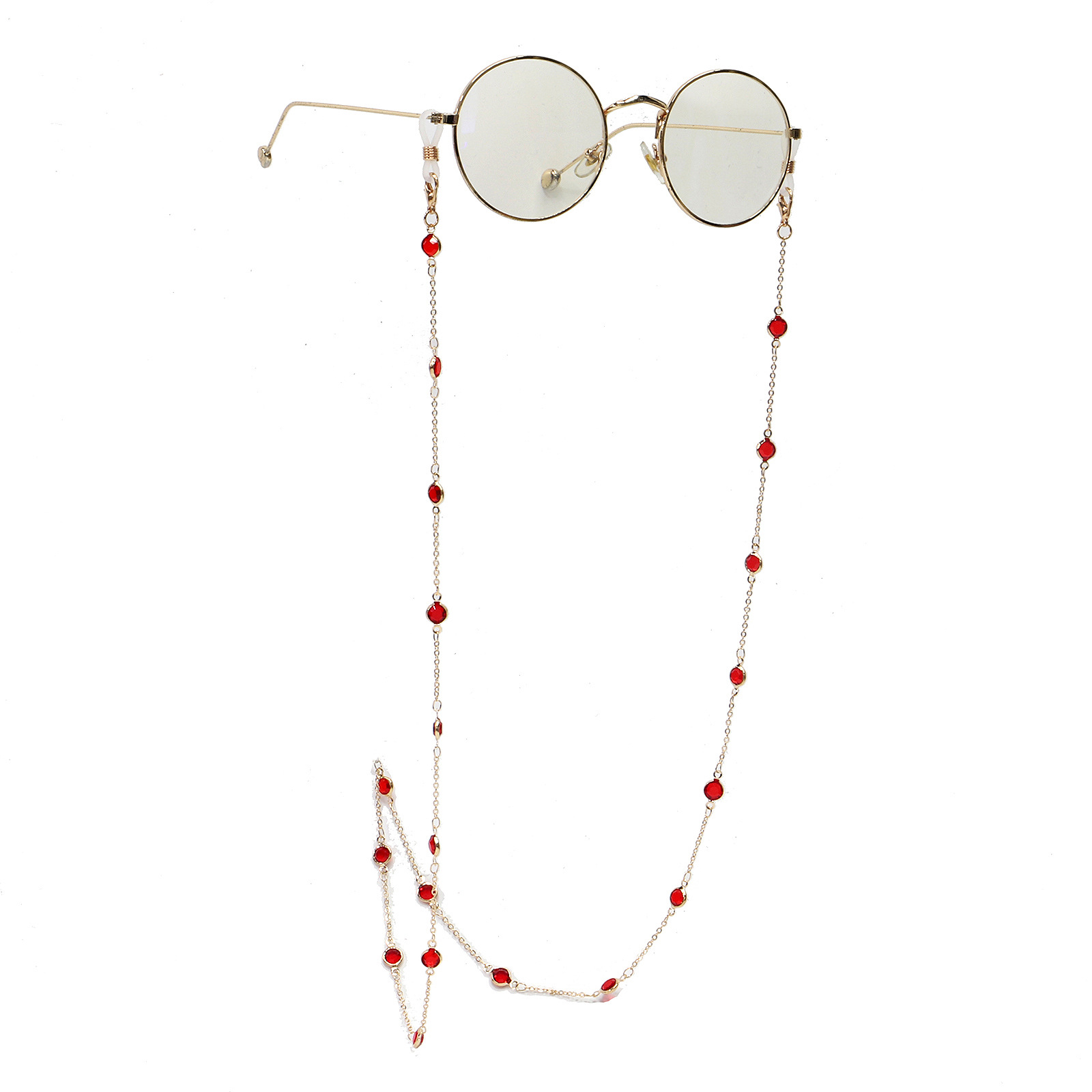 High-end crystal handmade glasses chain fashion glasses rope lanyard glasses accessories wholesale nihaojewelry NHBC237572