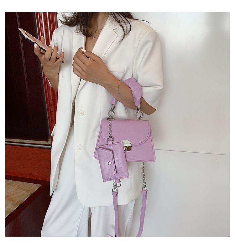 Allmatch ummer new trendy fashion chain messenger portable small square bag for women NHTC260185