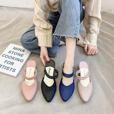 货源2020新款女鞋凉拖鞋 时尚网红同款女鞋 夏季外穿拖鞋女厂家批发批发