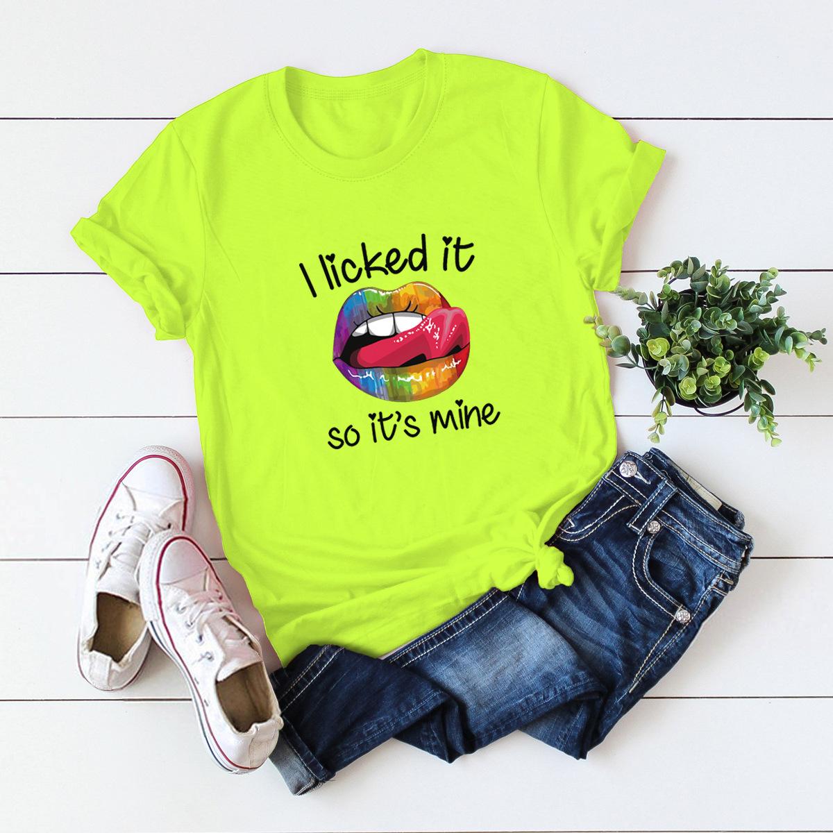funny tongue comfortable short-sleeved T-shirt NSSN1458