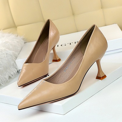 262-A1 han edition style restoring ancient ways is contracted with high-heeled shoes cat shallow mouth pointed joker c