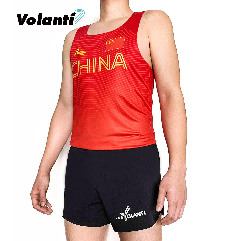 Volanti沃兰迪 中国国家队运动背心田径跑步速干排汗透气马拉松