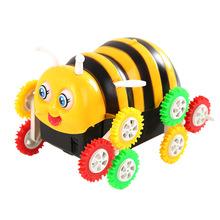 兒童益智卡通電動小蜜蜂翻斗特技玩具車 自動翻跟頭玩具地攤熱賣