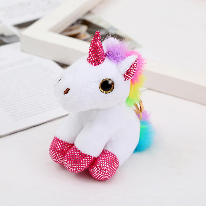 plush doll colorful unicorn keychain  NHAE279761