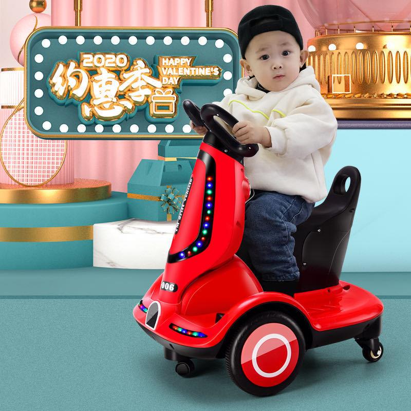 新款儿童电动车 儿童电动平衡车1-6岁 室内平衡车音乐灯光电瓶车