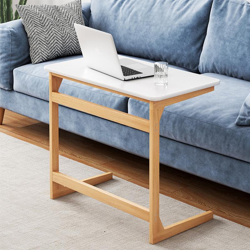简易床边桌简约家用实木色移动小书桌学生卧室电脑桌沙发边懒人桌