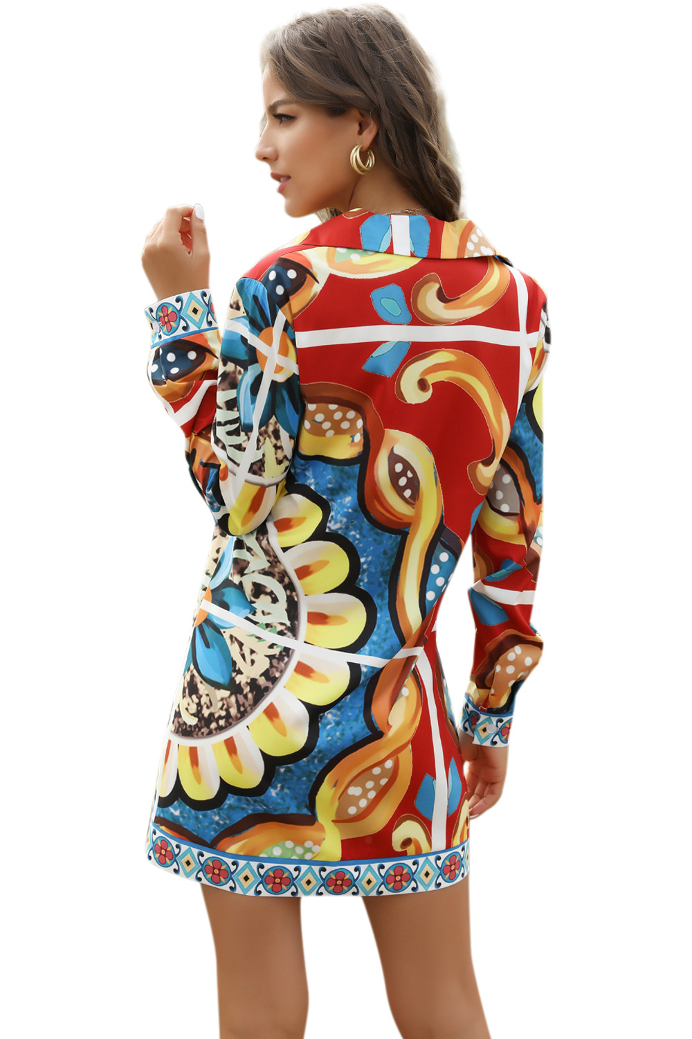 hot selling printed bandage ethnic women's shirt skirt NSDF1493