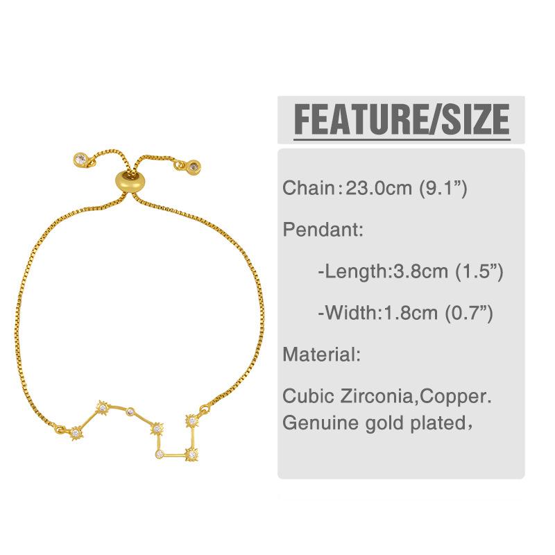 bracelet bracelet explosif diamant constellation Polaris bracelet couple bracelet gros NHAS218077