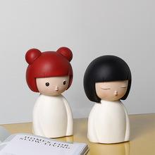 创意家居可爱幸运娃娃 树脂工艺品摆件 礼品 工艺 房间卡通装饰品