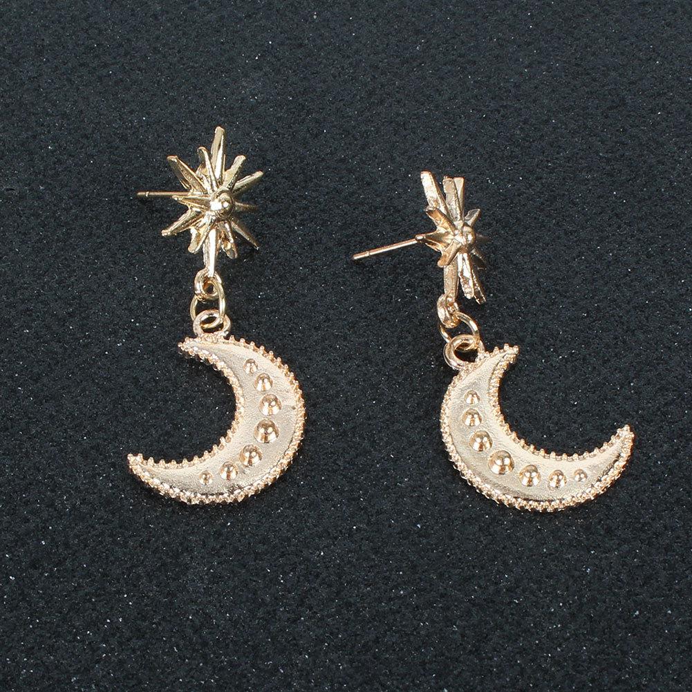 fashion alloy moon new style boho earrings wholesale nihaojewely NHCT240537