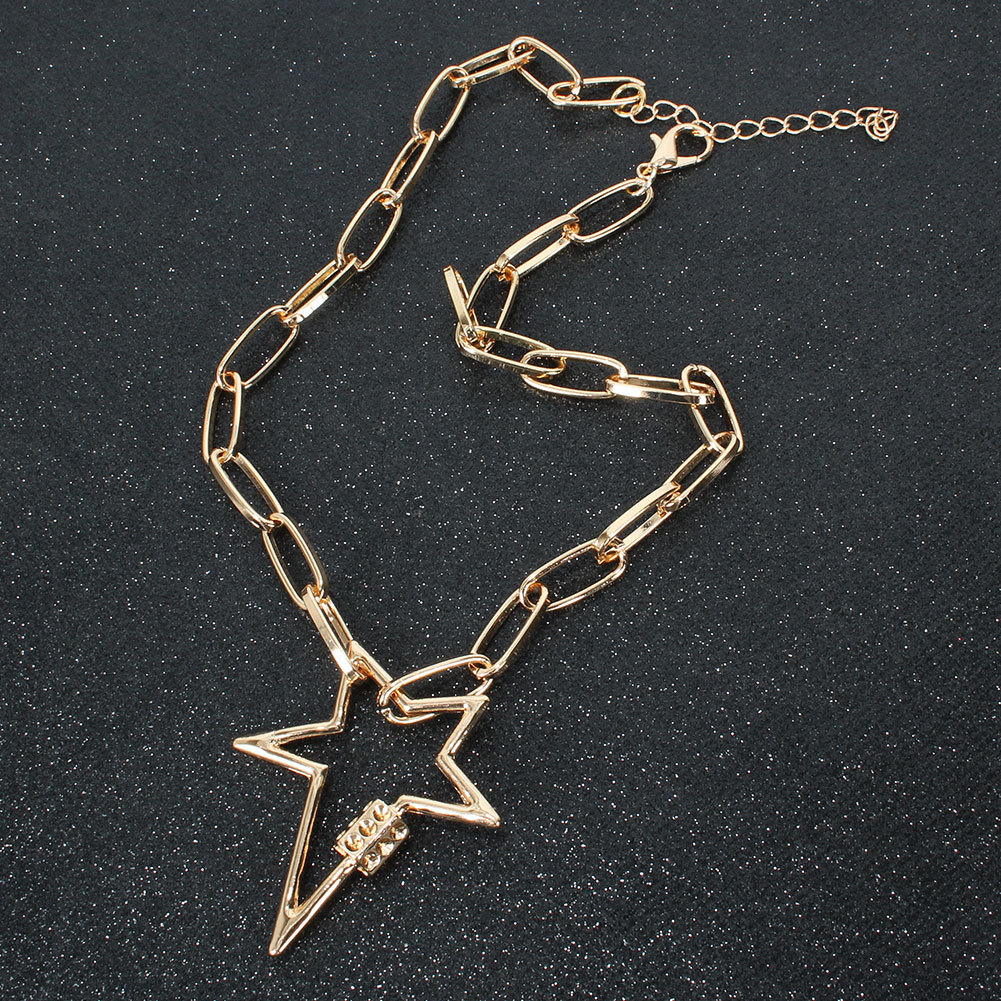 New Fashion Lightning Pentagram Pendant Necklace Wholesale NHCT204518