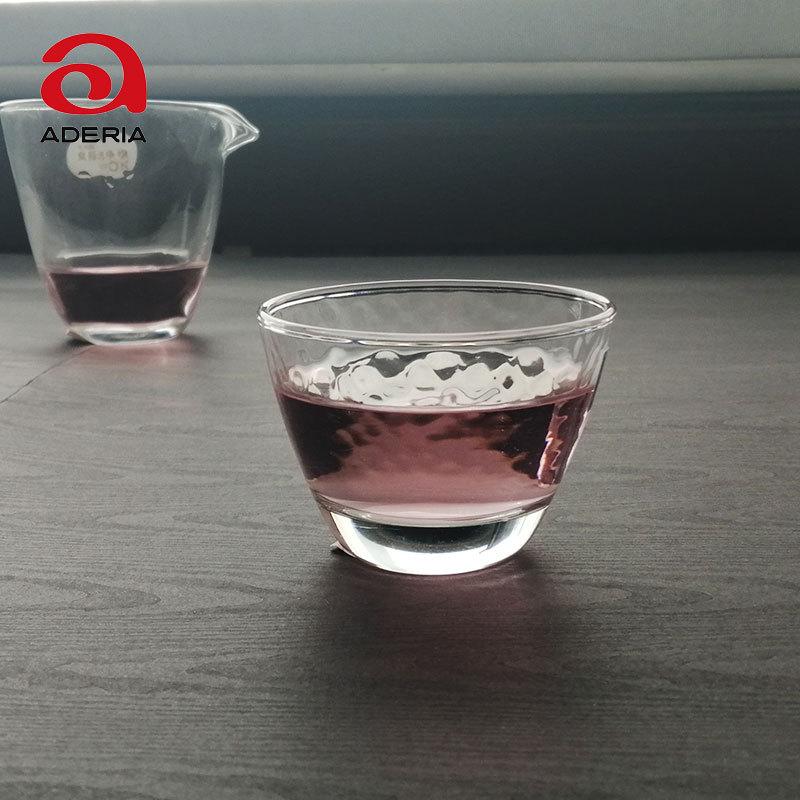 日本进口石塚硝子 锤目纹玻璃水杯 酒盅 茶杯冷水杯 酒杯90ml