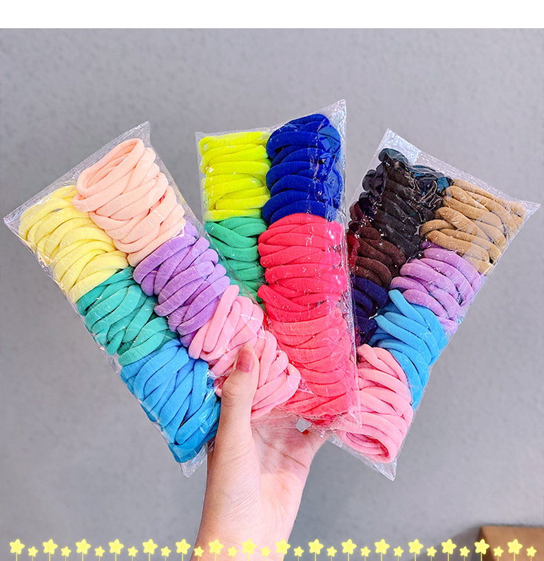 Korean candy color towel hair ring combination set simple and versatile rubber band hair headdress wholesale nihaojewelry NHNA236459