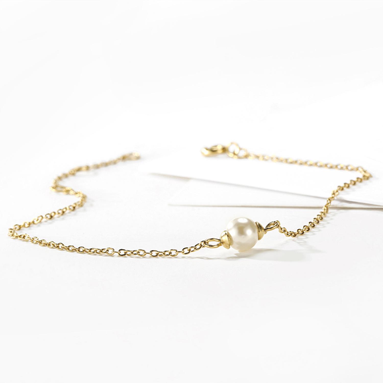 New stainless steel bracelet wholesale yiwu nihaojewelry fashion pearl bracelet simple jewelry Valentine's Day gift NHJJ213313