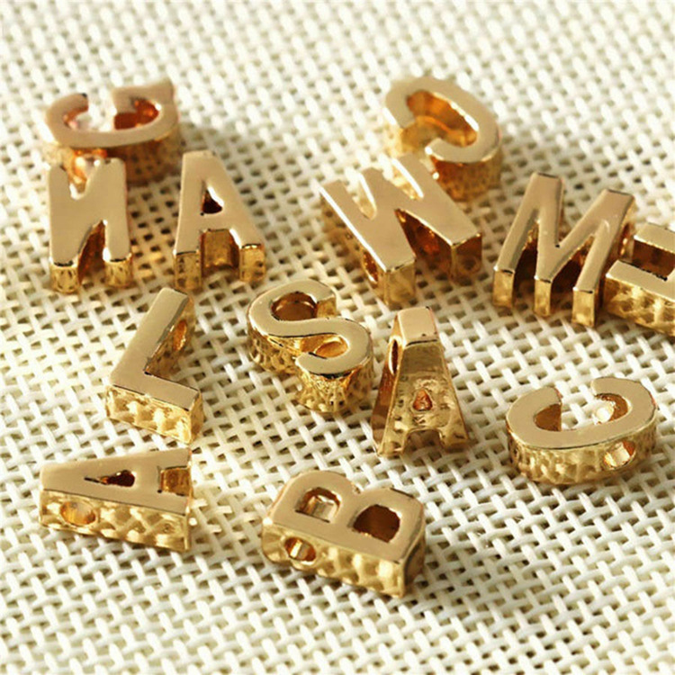 New 316L stainless steel pendant 26 English alphabet pendants DIY handmade jewelry accessories wholesale nihaojewelry  NHTF226605