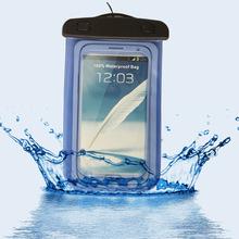 廠家定制多色新款手機防水袋可觸屏手機套 pvc戶外游泳手機袋批發