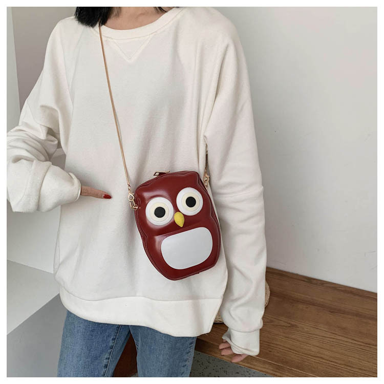 Bags Women's Bags New Korean Fashion Chain Cartoon Messenger Bag Shoulder Small Square Bag NHTC202278