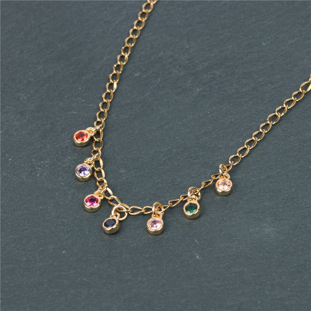 Fashion Micro Inlaid Large Zircon Pendant Necklace Wholesale NHPY199735