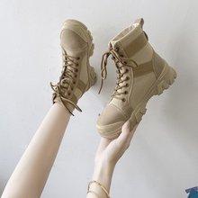 高帮帆布鞋女2020秋季新款街头时尚短靴布面防滑耐磨休闲女鞋批发