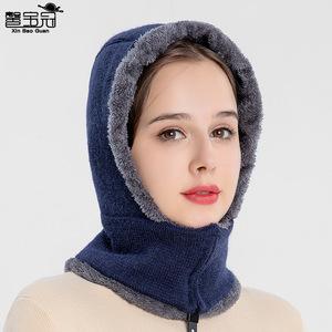 套头 针织帽 护耳 秋季
